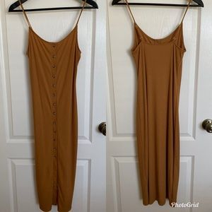 Tan Dress with Adjustable Straps